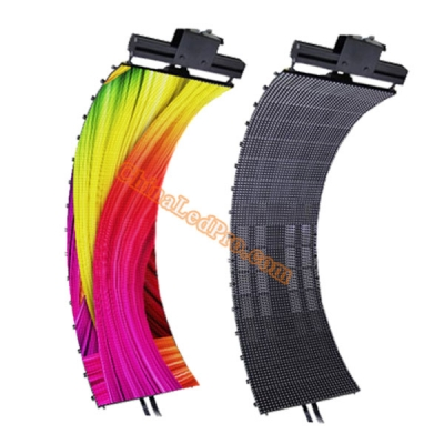 P10 SMD Outdoor Flexible LED Curtain Wall 320 x 1280mm